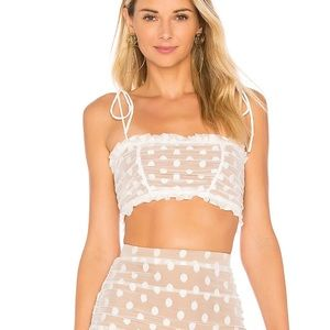 Majorelle sawyer crop top in white